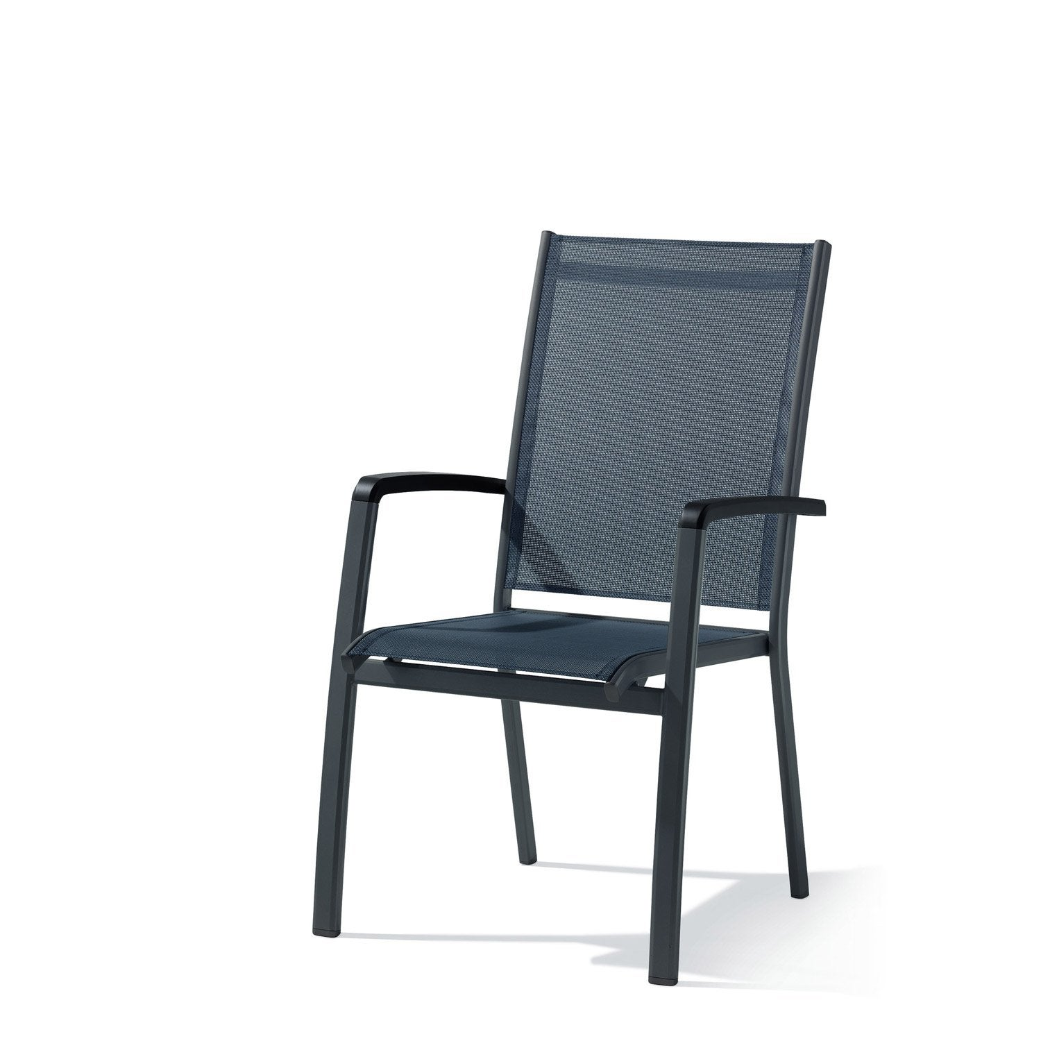 fauteuil de jardin en aluminium bodega gris leroy merlin. Black Bedroom Furniture Sets. Home Design Ideas