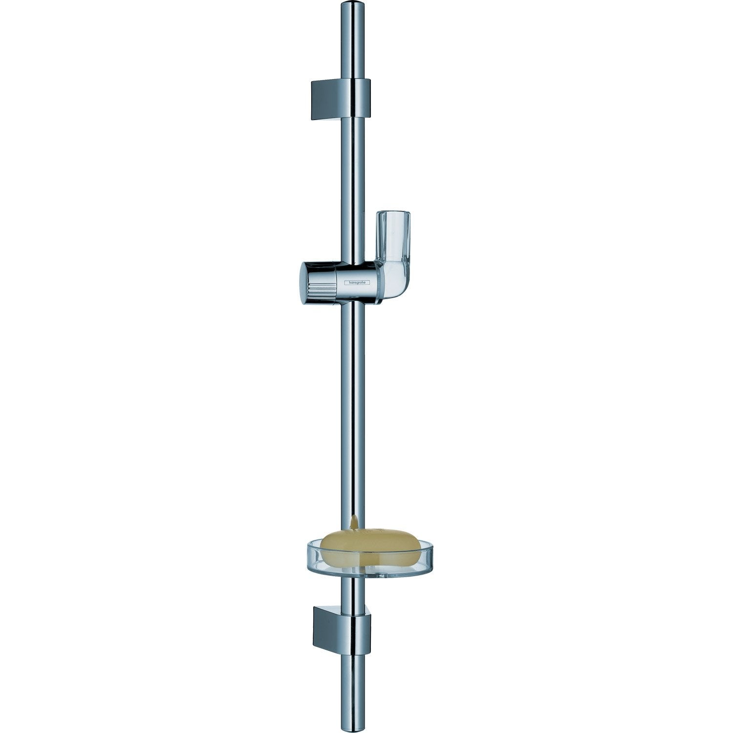 Barre de douche chrome hansgrohe unica vario leroy merlin - Demonter barre de douche ...