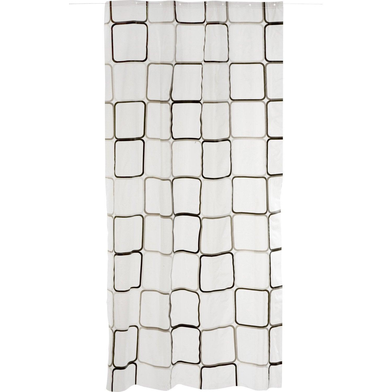 Rideau de douche en plastique x cm transparent - Leroy merlin rideau de porte ...