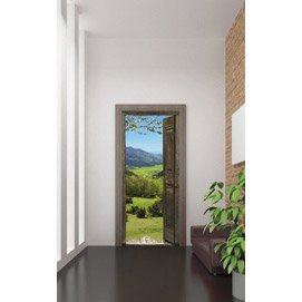 Sticker porte alpages 83 x 204 cm leroy merlin - Stickers de porte leroy merlin ...