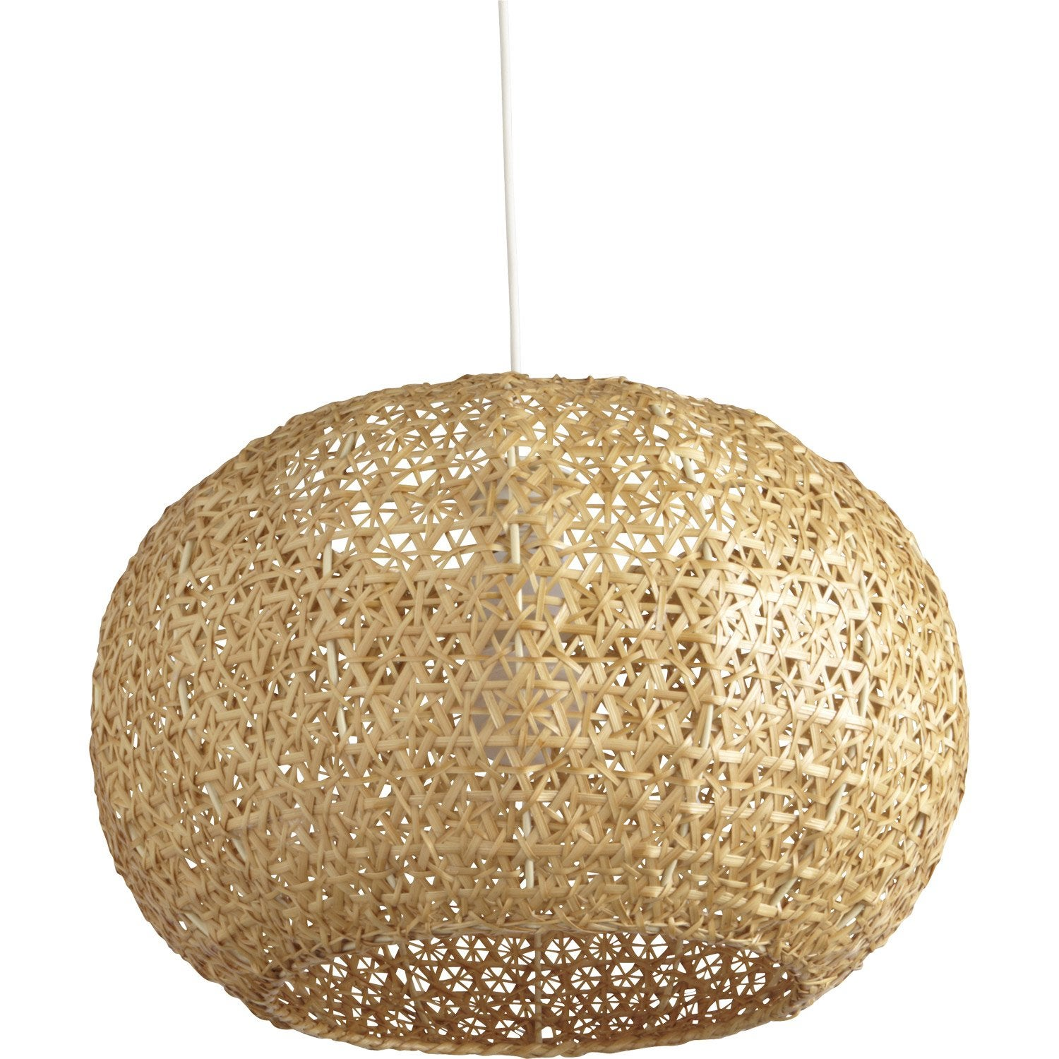 Suspension nature hana bambou naturel 1 x 60 w inspire - Abat jour suspension leroy merlin ...