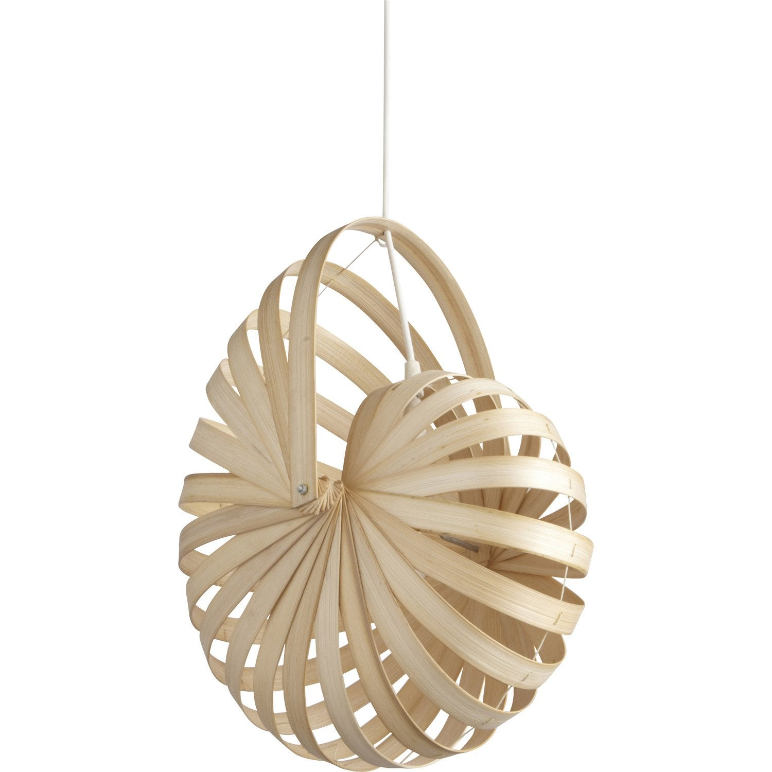Suspension nature sheru bambou naturel 1 x 60 w inspire - Echelle bambou leroy merlin ...