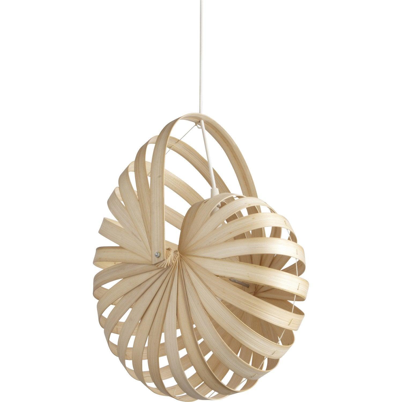 suspension nature sheru naturel 1 x 60 w inspire leroy. Black Bedroom Furniture Sets. Home Design Ideas
