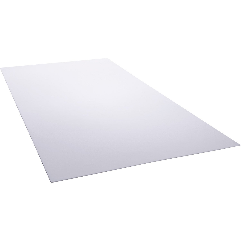plaque polystyr ne blanc laiteux lisse x cm x. Black Bedroom Furniture Sets. Home Design Ideas