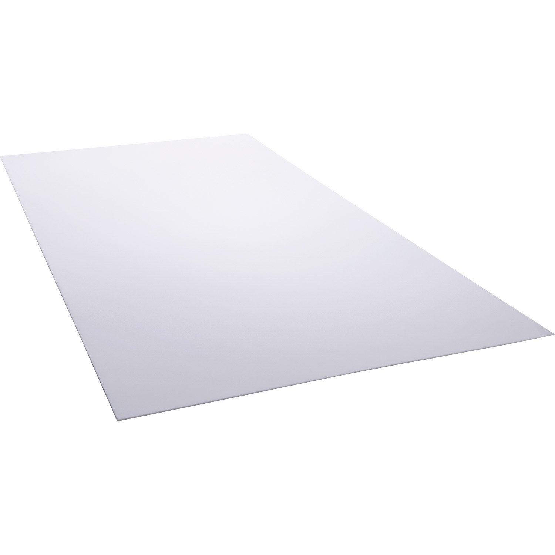 plaque polystyr ne blanc laiteux lisse x cm x ep 2 5 mm leroy merlin. Black Bedroom Furniture Sets. Home Design Ideas
