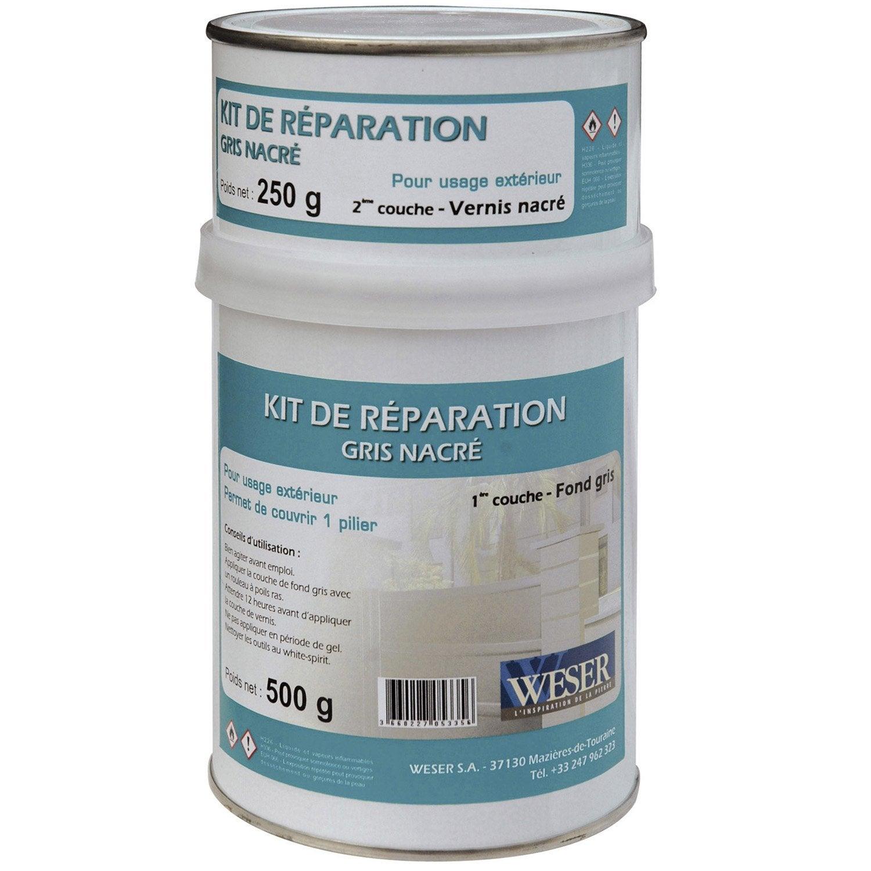 Enduit de r novation gris nacr kg leroy merlin - Kit reparation eclat carrelage ...