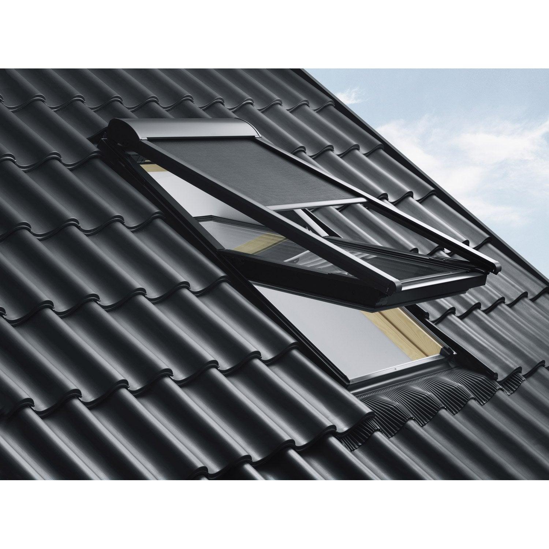 store fen tre de toit pare soleil t l command lectrique noir velux msl mk06 leroy merlin. Black Bedroom Furniture Sets. Home Design Ideas