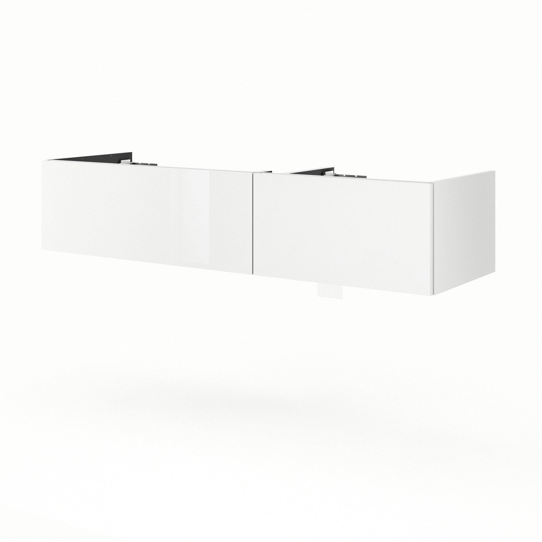 Meuble sous vasque x x cm blanc neo line - Leroy merlin meuble sous vasque ...