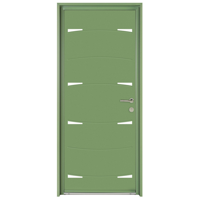 Porte d 39 entr e sur mesure en aluminium nodus excellence - Store venitien leroy merlin sur mesure ...