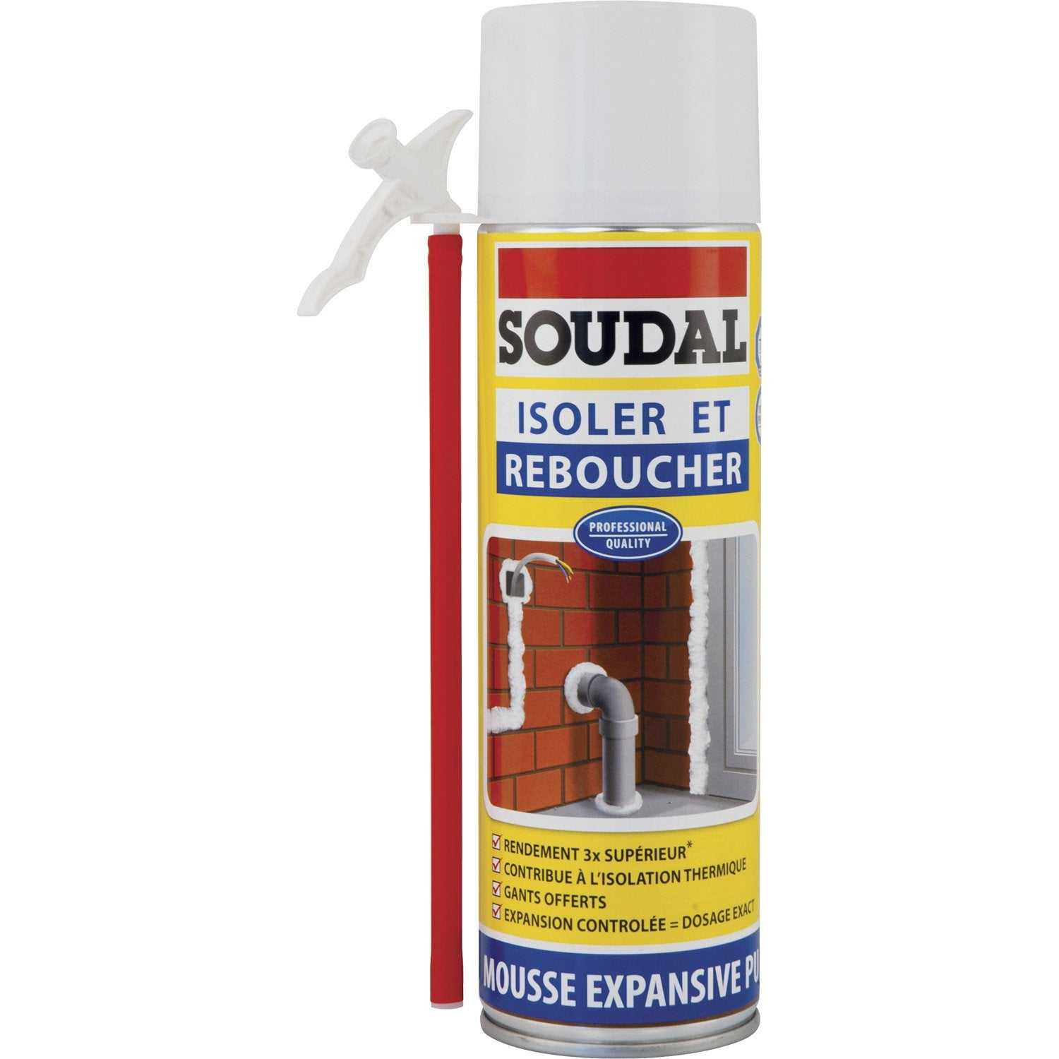 mousse expansive soudal isoler reboucher 500ml leroy merlin. Black Bedroom Furniture Sets. Home Design Ideas