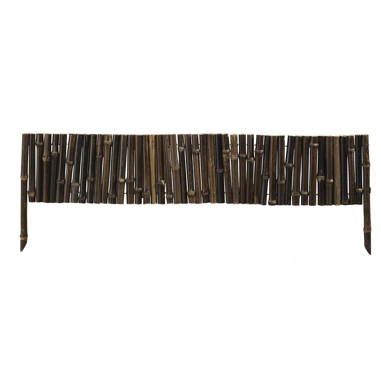 Bordure planter bambou bois noir h 35 x l 100cm leroy merlin - Palissade bambou leroy merlin ...
