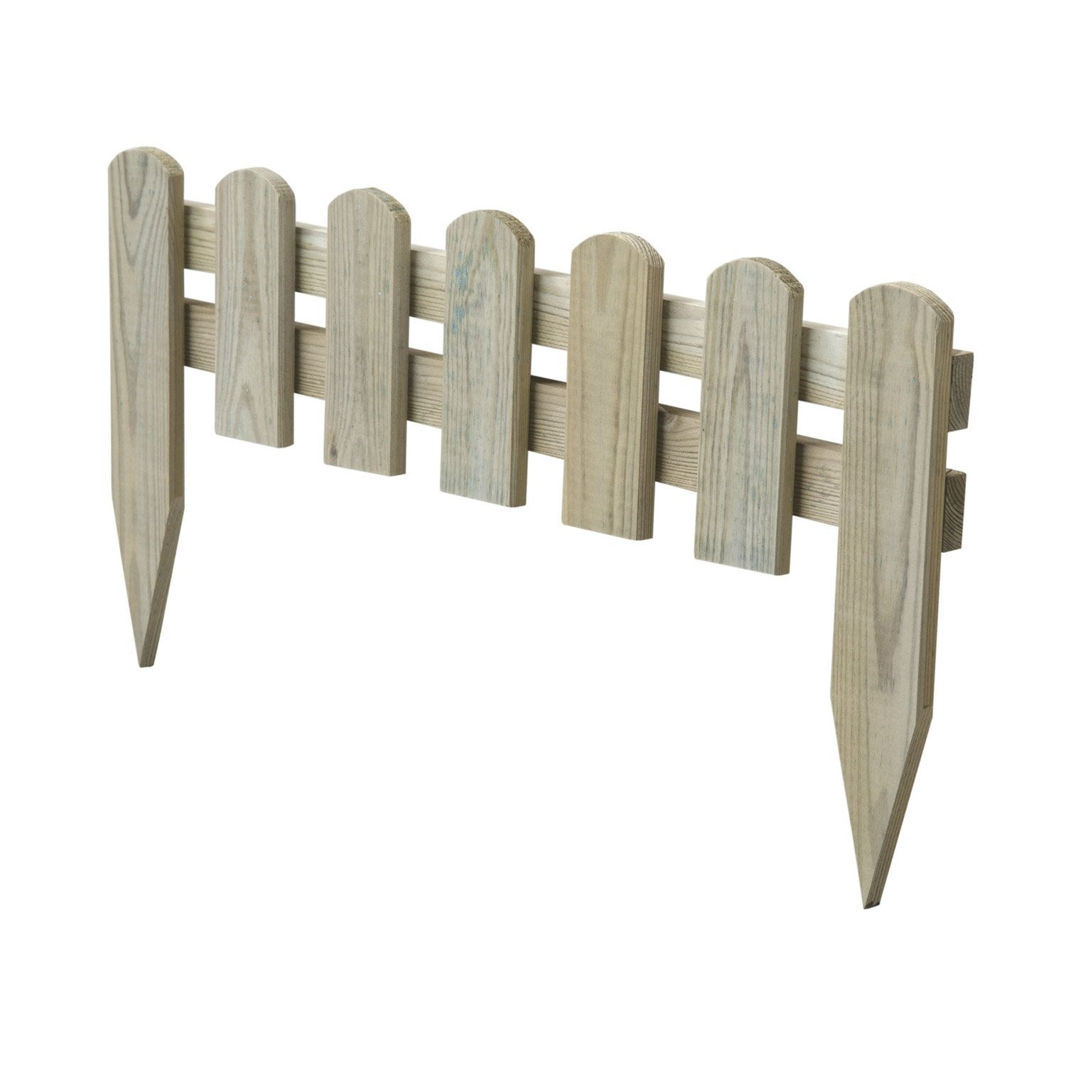 Bordure planter stackette bois naturel x cm leroy merlin for Barriere de jardin bois