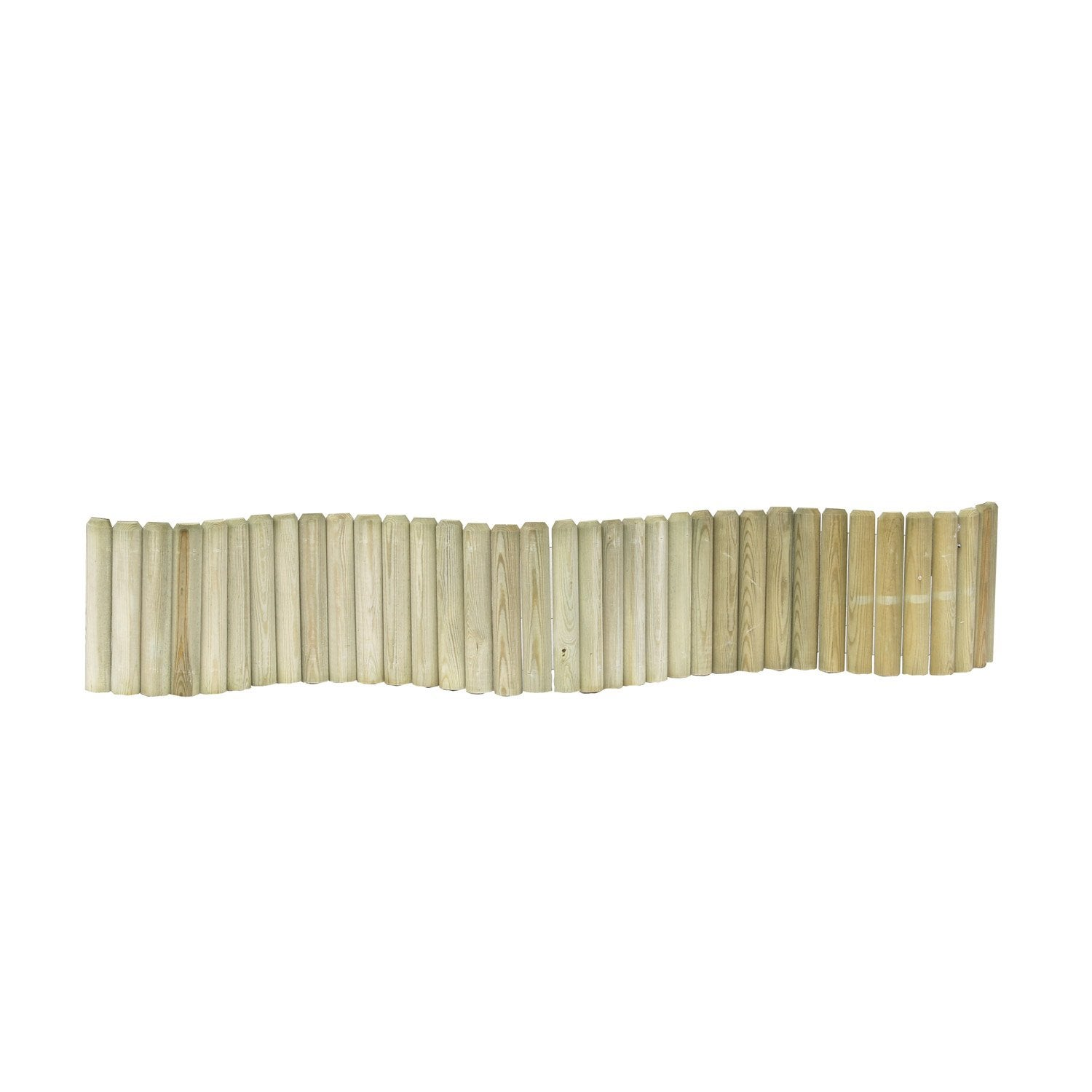 bordure planter 1 2 rondin bois naturel x cm