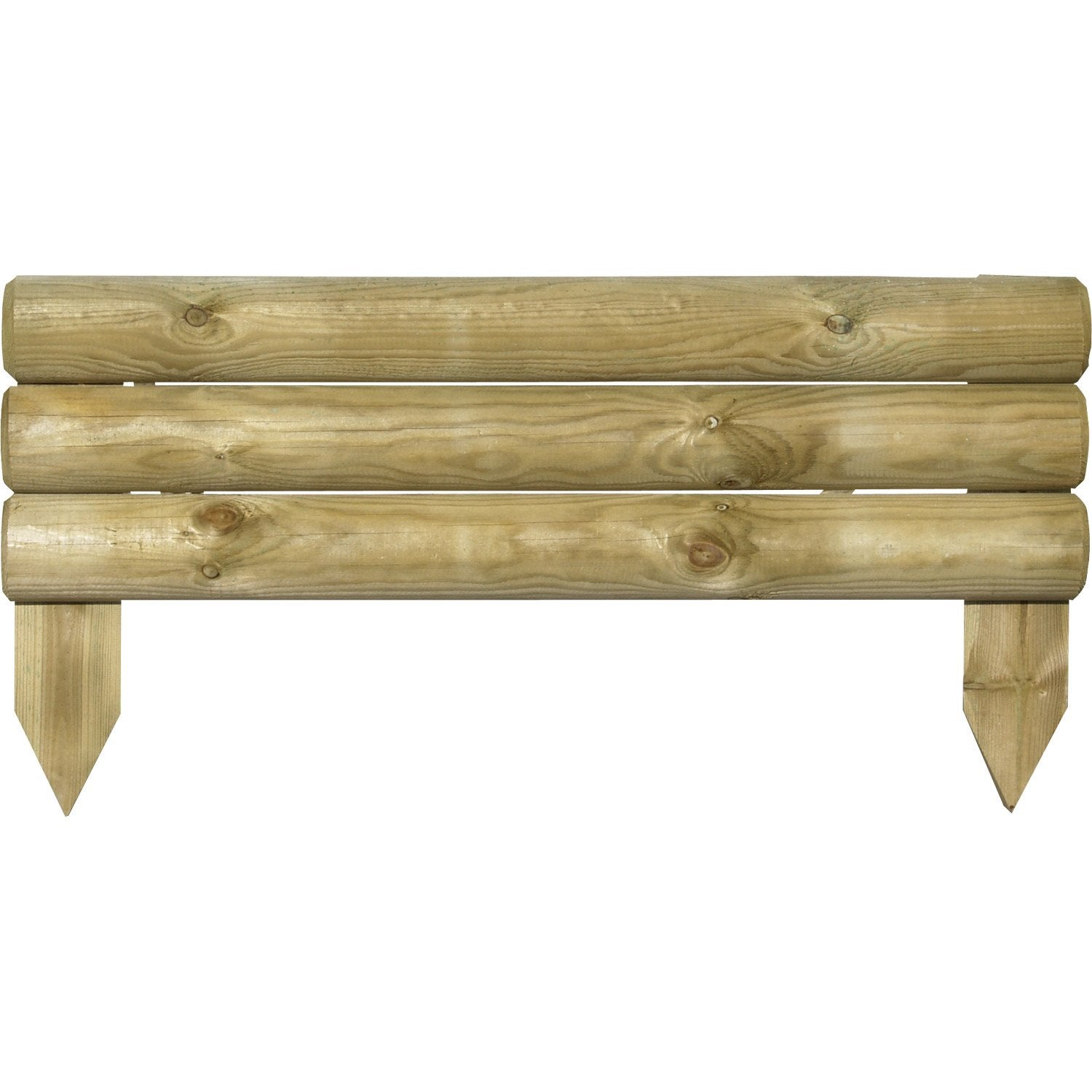Bordure planter bois naturel x cm leroy merlin - Bordure jardin bois brico ...