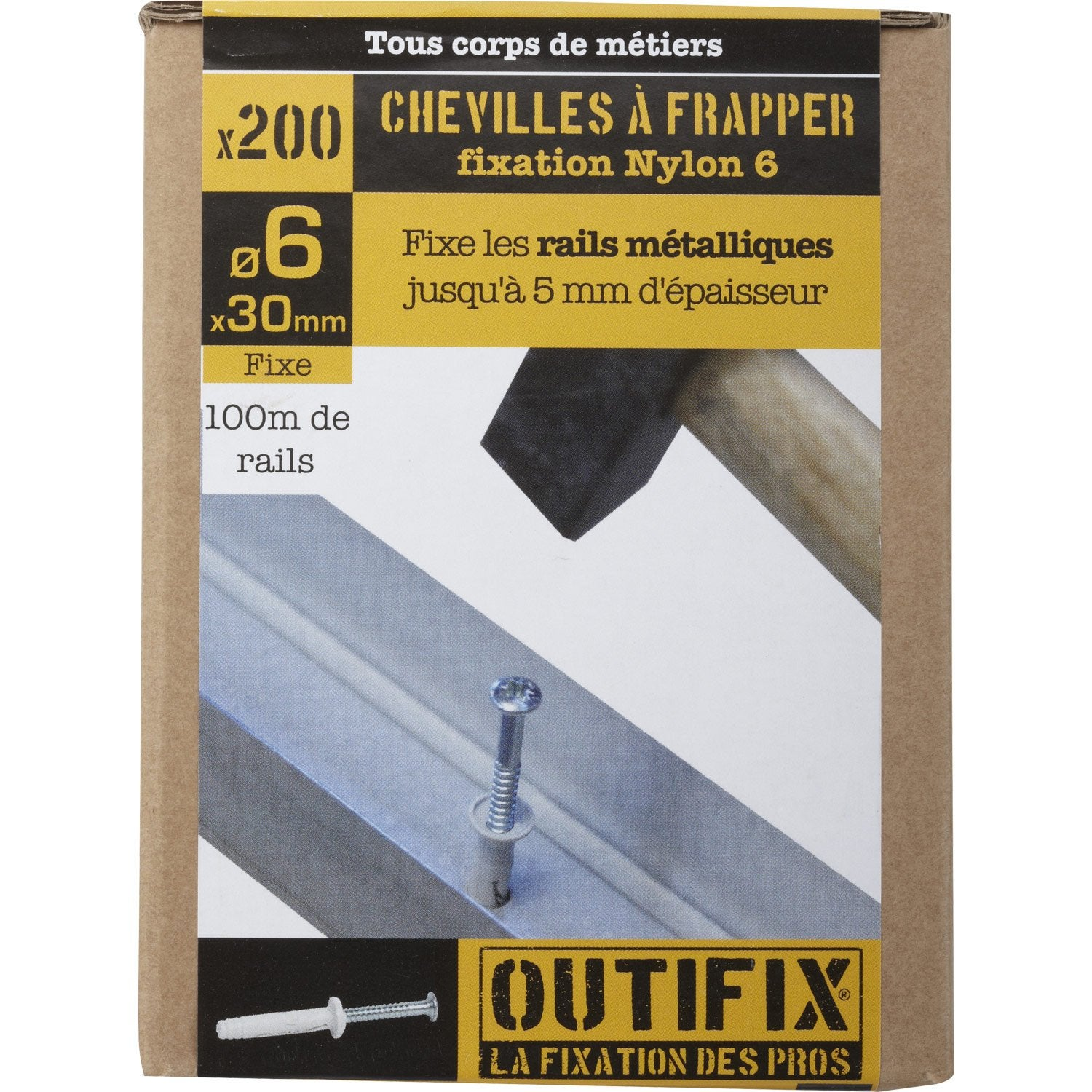 200 chevilles vis expansion outifix 6 x 30mm leroy merlin - Cheville a frapper leroy merlin ...
