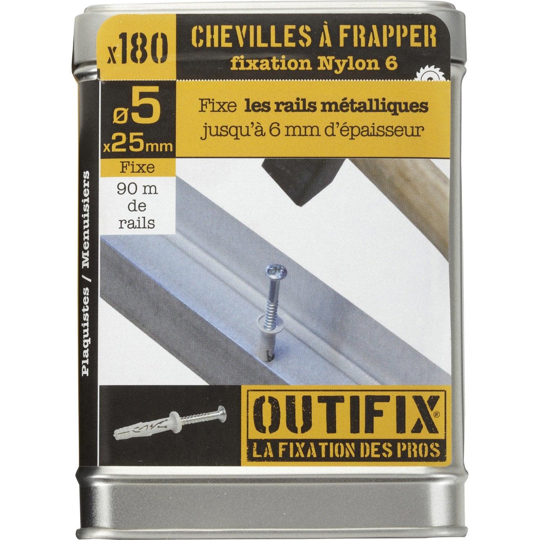 180 chevilles vis expansion outifix 5x25mm pour multi mat riaux leroy merlin. Black Bedroom Furniture Sets. Home Design Ideas