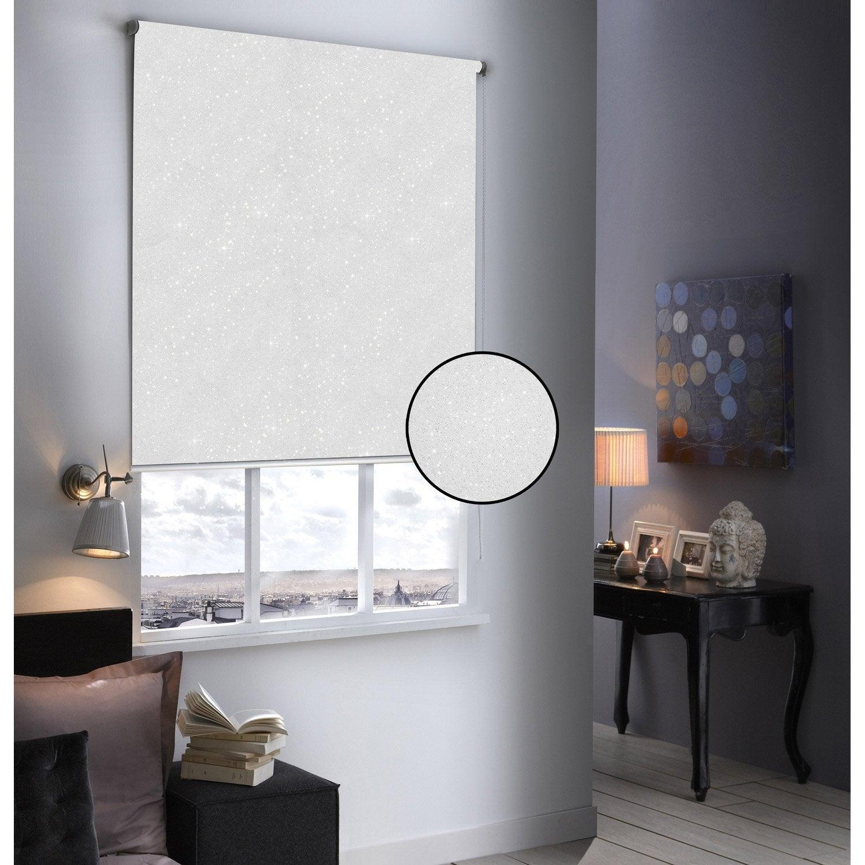 store enrouleur occultant paillettes blanc paillet 104x190 cm leroy merlin. Black Bedroom Furniture Sets. Home Design Ideas
