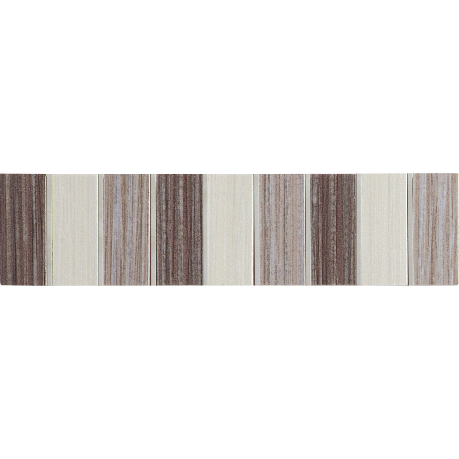 Lot de 5 listels tokyo beige cr me et marron l 5 x for Salle de bain marron beige