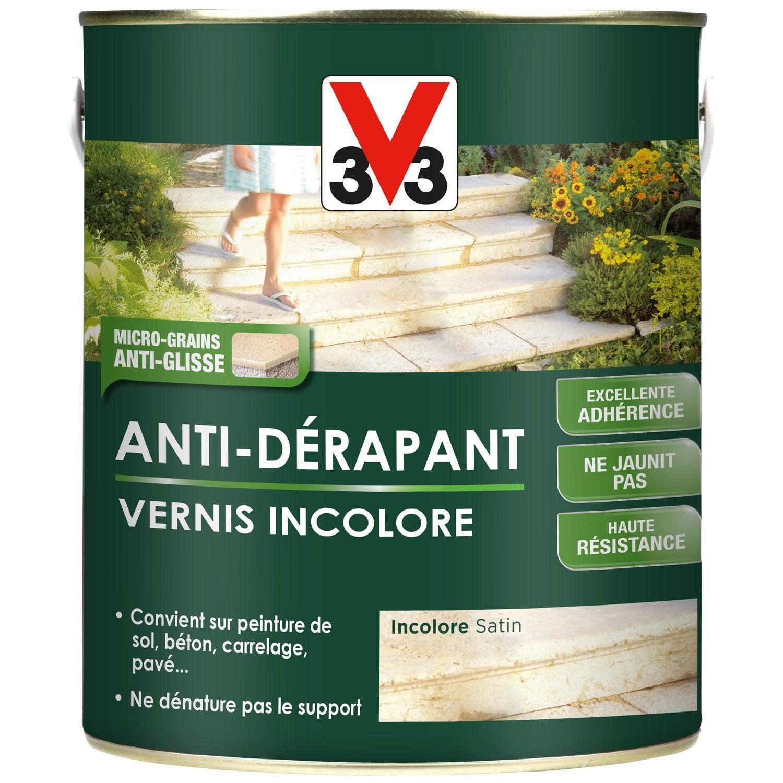 Vernis antid rapant sol ext rieur int rieur v33 for Vernis pour carrelage exterieur