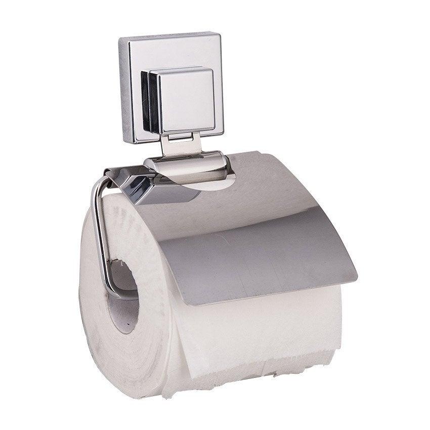 d rouleur papier toilette acier avec couvercle x p 3 cm leroy merlin. Black Bedroom Furniture Sets. Home Design Ideas