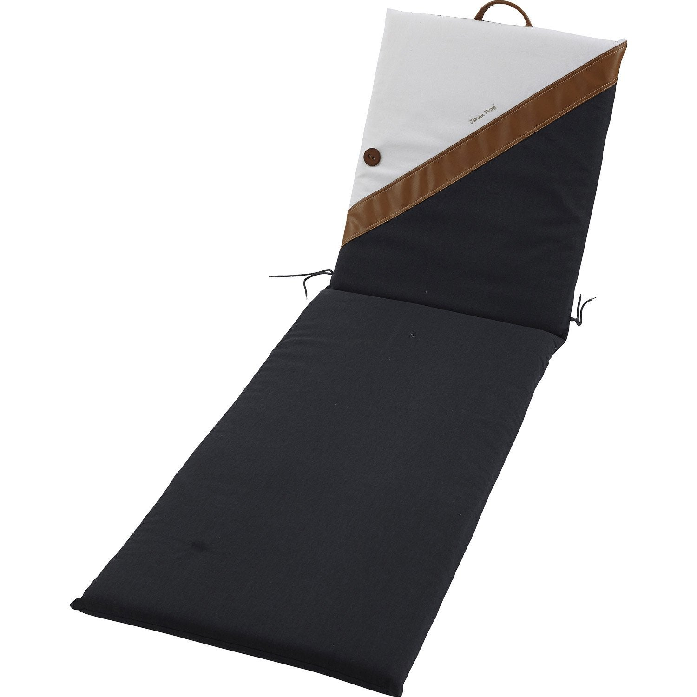 coussin de bain de soleil jardin prive sellier uni multicolore leroy merlin. Black Bedroom Furniture Sets. Home Design Ideas