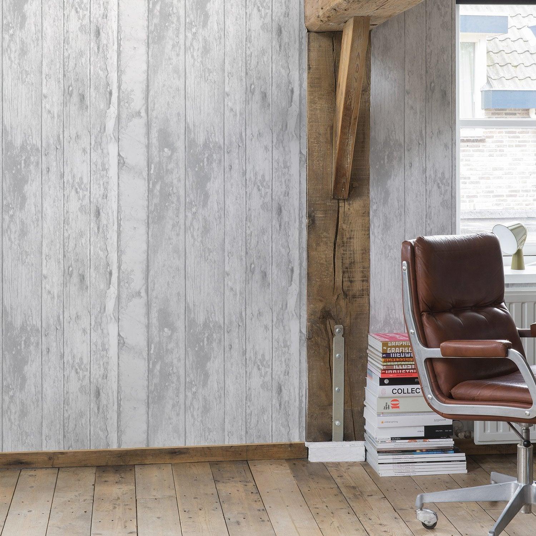 papier peint vinyle sur intiss exposed larg m. Black Bedroom Furniture Sets. Home Design Ideas
