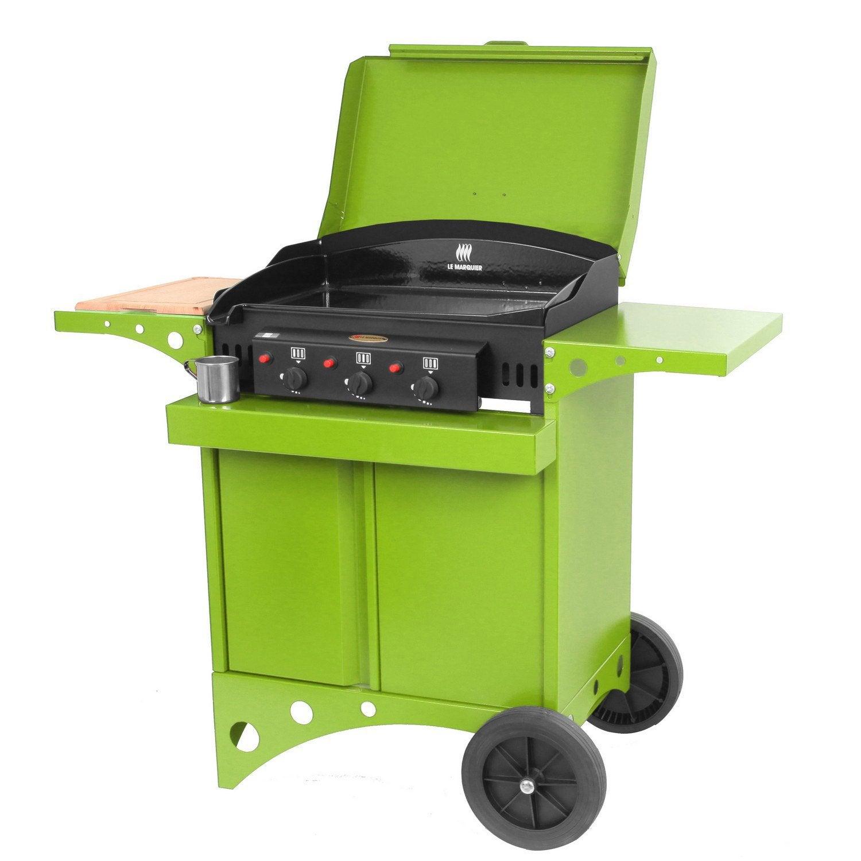 Plancha au gaz en aluminium le marquier kitchen couleur for Plancha exterieur leroy merlin