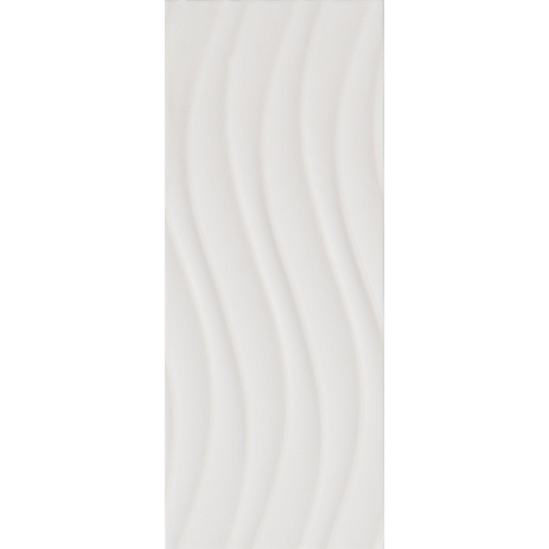 fa ence mur blanc blanc n 0 d cor loft onde mat x cm leroy merlin. Black Bedroom Furniture Sets. Home Design Ideas