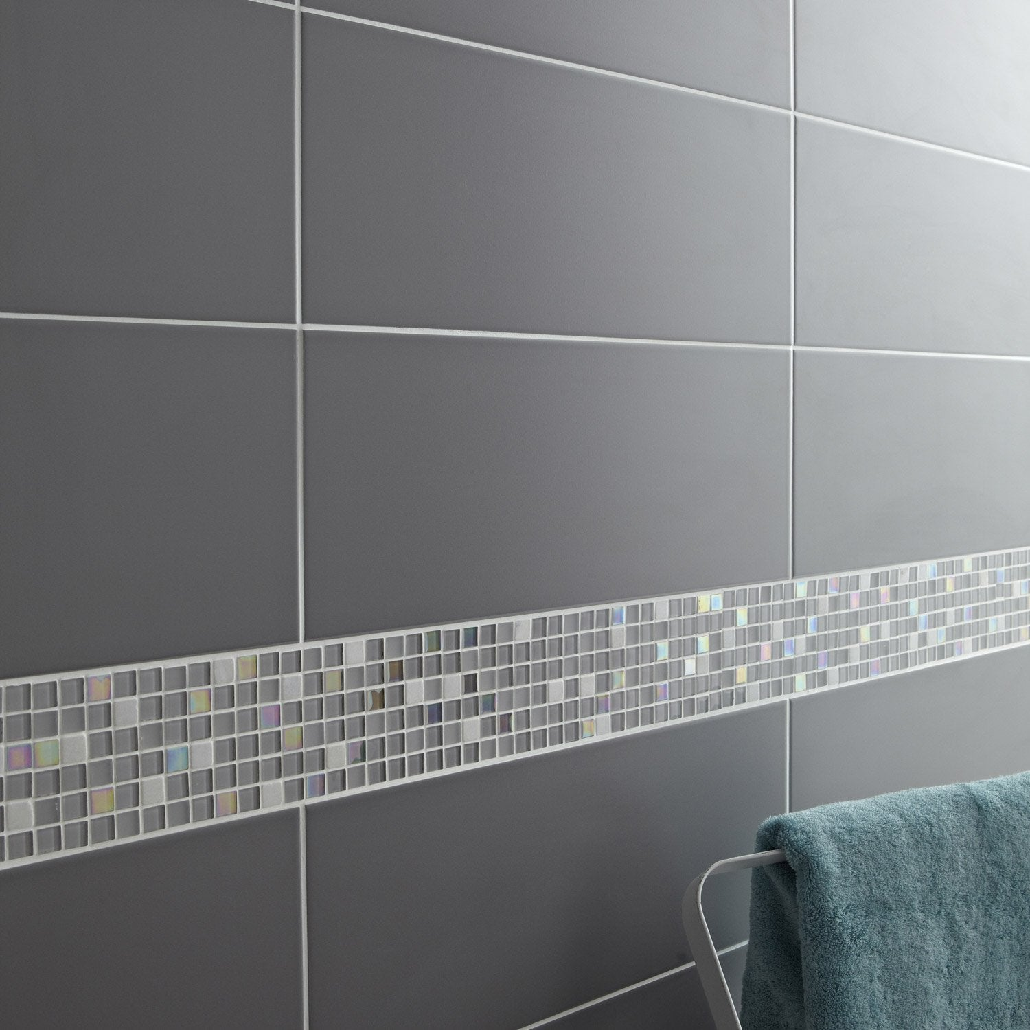 Fa ence mur gris galet n 3 loft x cm leroy for Carreaux faience