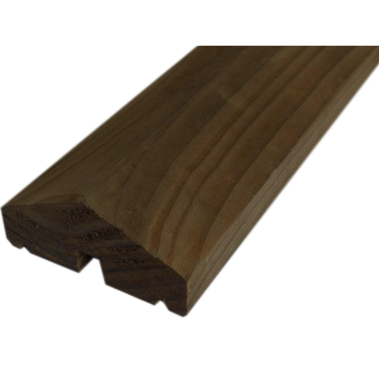 Profil de finition bois rainur marron x l 4 x cm leroy merlin - Leroy merlin tablette pin ...