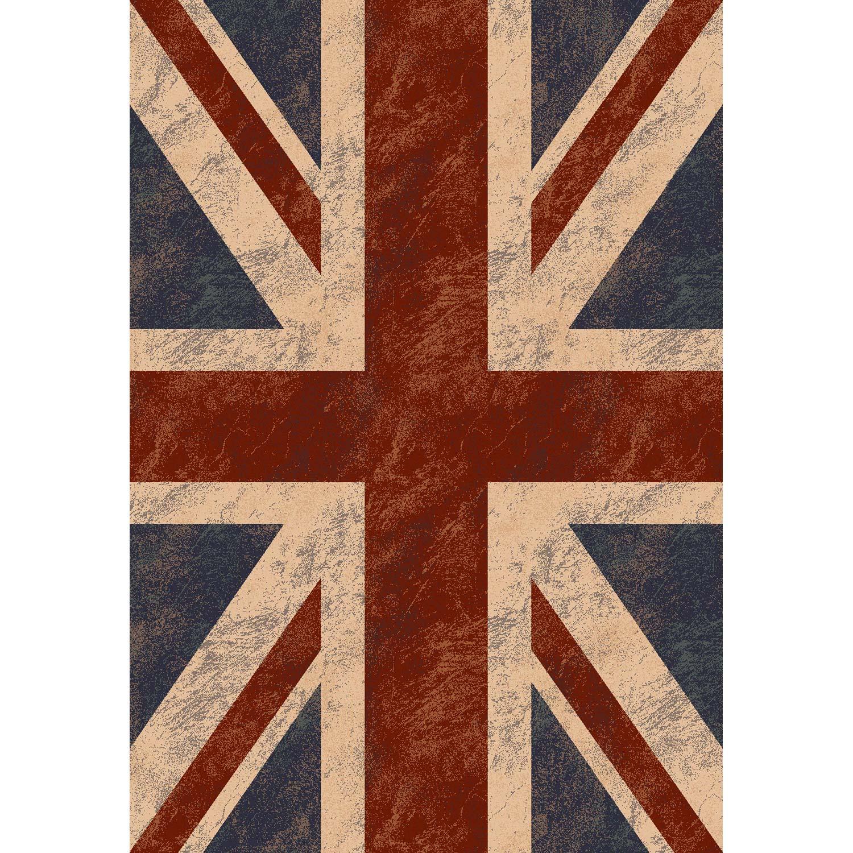 tapis multicolore ispahan drapeau uk x cm leroy merlin. Black Bedroom Furniture Sets. Home Design Ideas