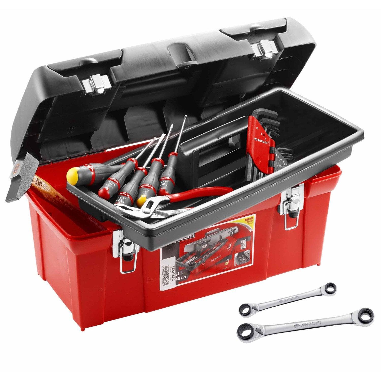 bo te outils en plastique 18 outils facom leroy merlin