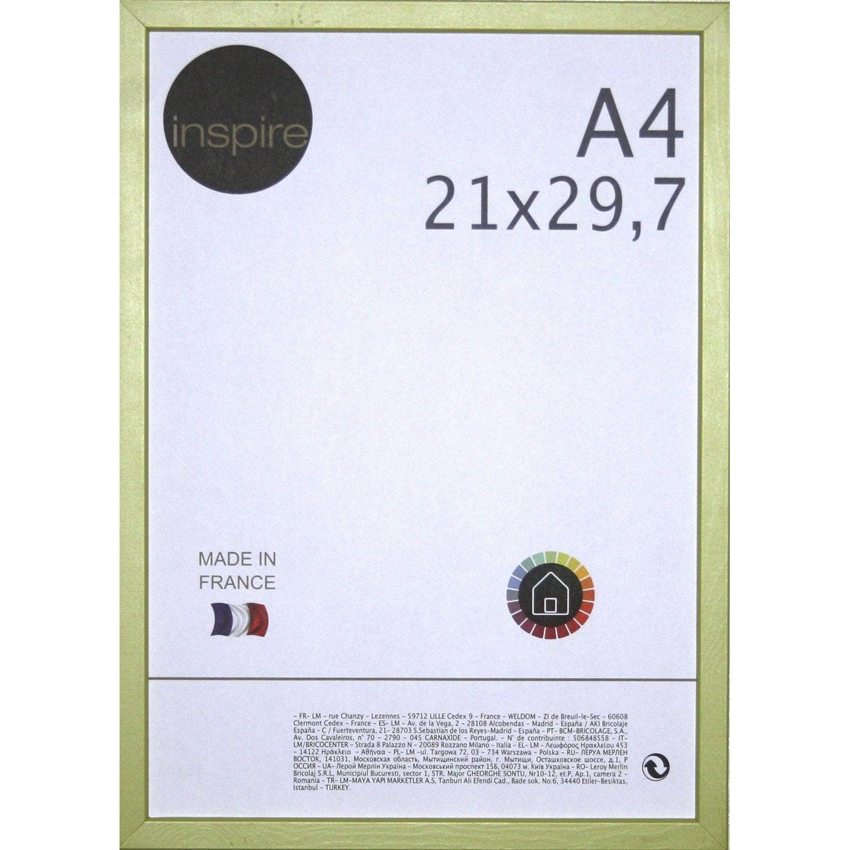 cadre kawa 21 x 29 7 cm vert botanique n 4 leroy merlin. Black Bedroom Furniture Sets. Home Design Ideas