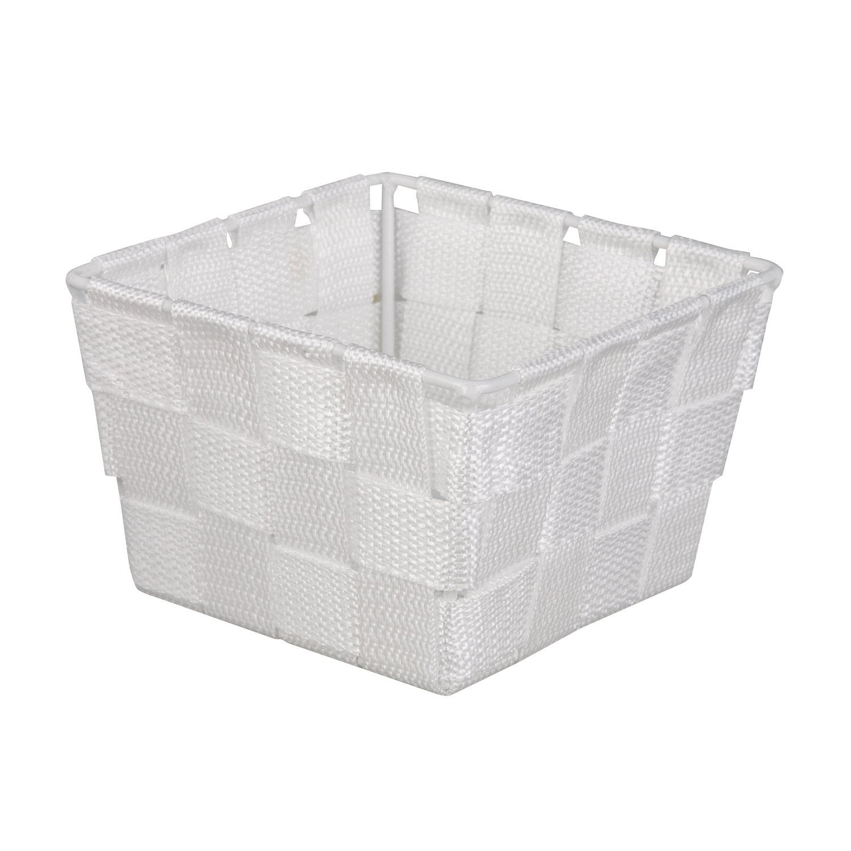 panier en plastique blanc blanc 0 basket leroy merlin. Black Bedroom Furniture Sets. Home Design Ideas