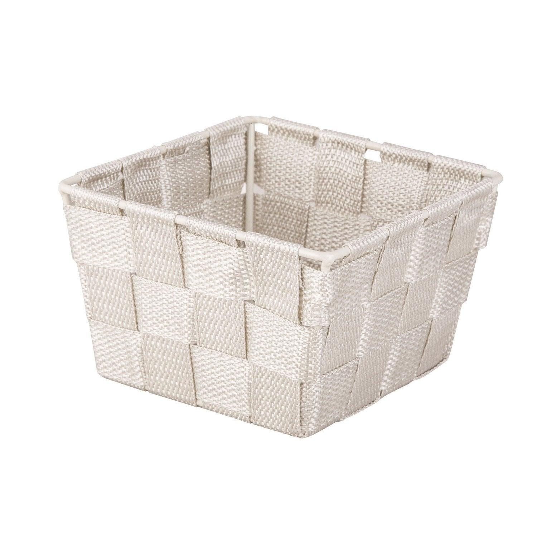 Panier en plastique gris doré 6 Basket