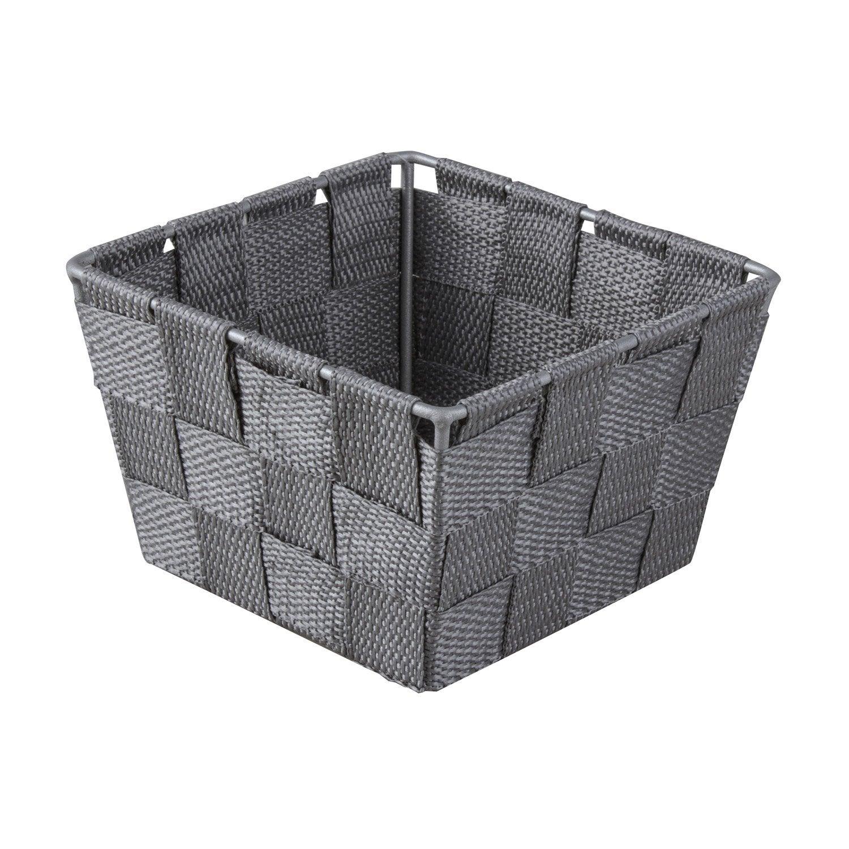 panier en plastique gris galet 3 basket leroy merlin. Black Bedroom Furniture Sets. Home Design Ideas