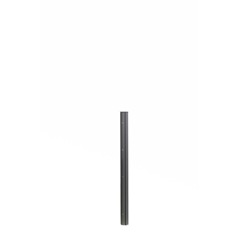 poteau aluminium visser gris anthracite x l 9 8 x p 8 8 cm leroy merlin. Black Bedroom Furniture Sets. Home Design Ideas