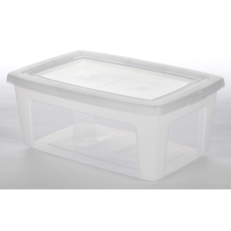 Bo te de rangement modular box en plastique l 26 5 x p - Boite rangement leroy merlin ...