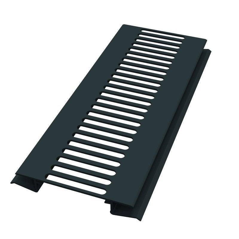 grille d 39 a ration pvc anthracite 3 m leroy merlin. Black Bedroom Furniture Sets. Home Design Ideas
