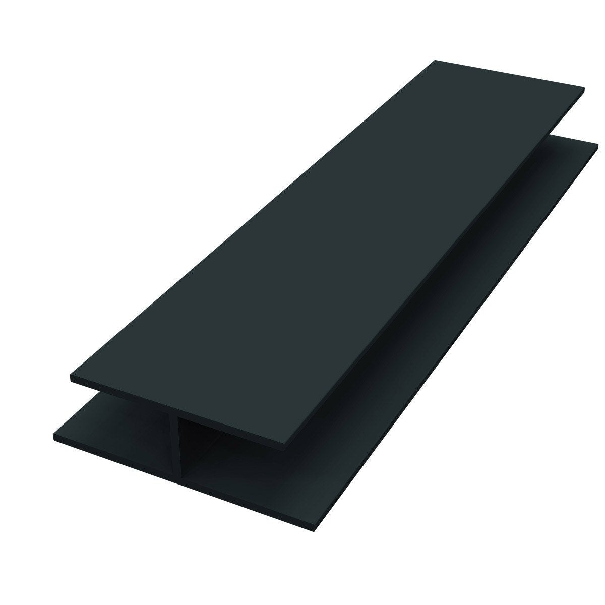 Profil de jonction pvc gris anthracite 3 m leroy merlin for Portillon pvc gris anthracite