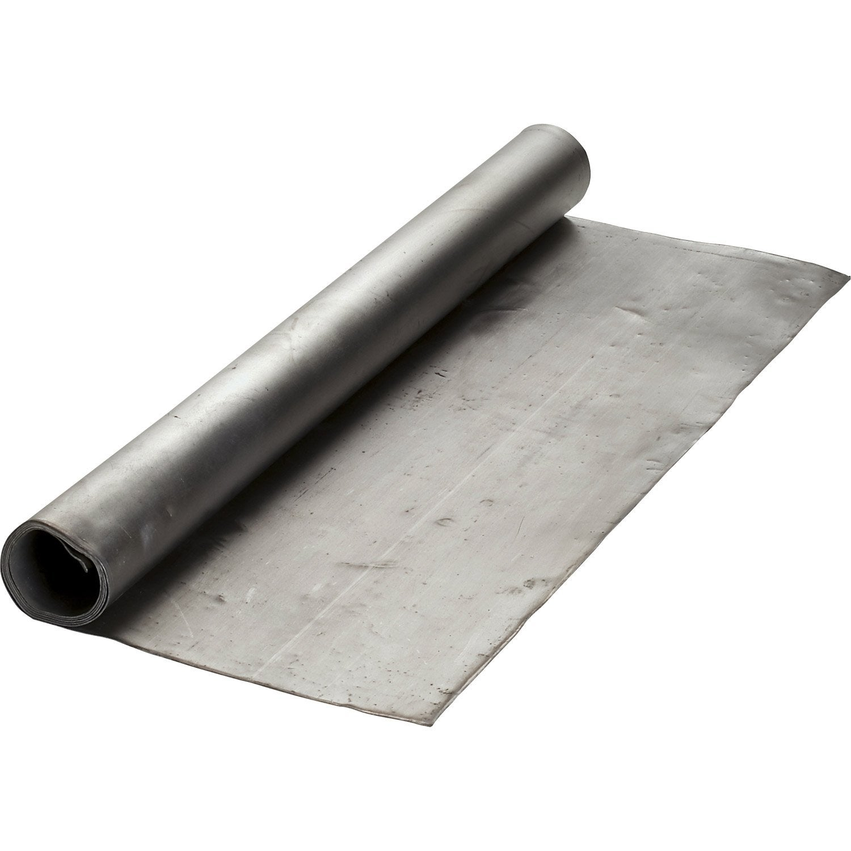 Rouleau de plomb lmc virano gris mm x l 1 m leroy for Gazon en rouleau leroy merlin