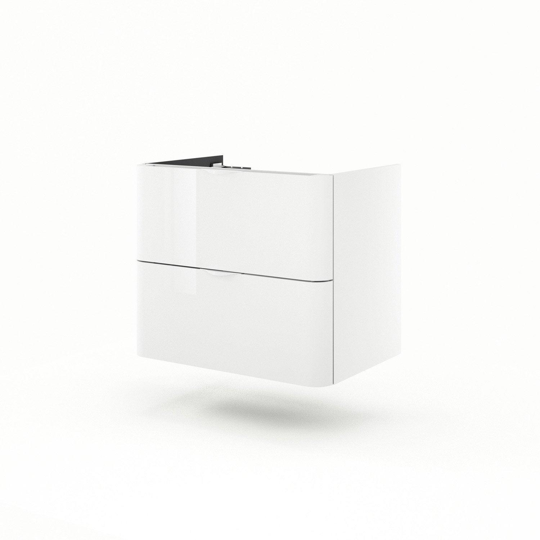 meuble sous vasque x x cm blanc neo shine leroy merlin. Black Bedroom Furniture Sets. Home Design Ideas