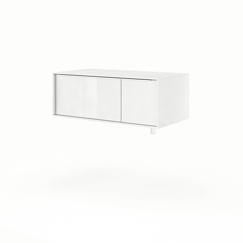 Meuble sous vasque x x cm blanc neo frame for Meuble sous vasque 90 cm