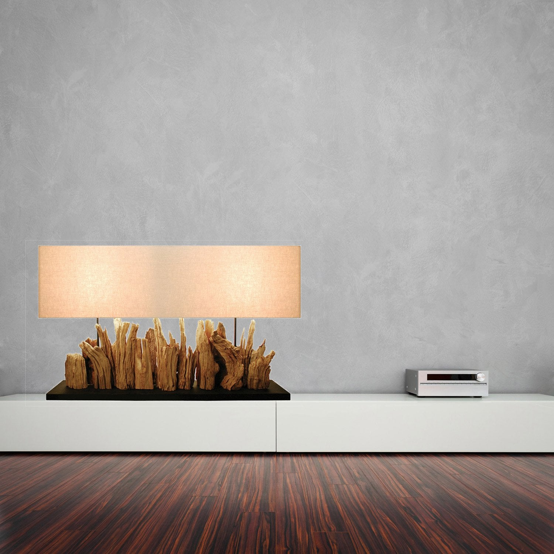 lampe yucatan coton cr me 40 w leroy merlin. Black Bedroom Furniture Sets. Home Design Ideas