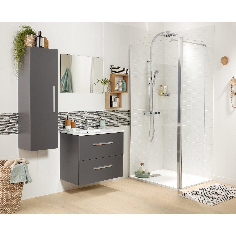 Meuble vasque gris 70 cm avec miroir carla leroy merlin - Meuble vasque leroy merlin ...
