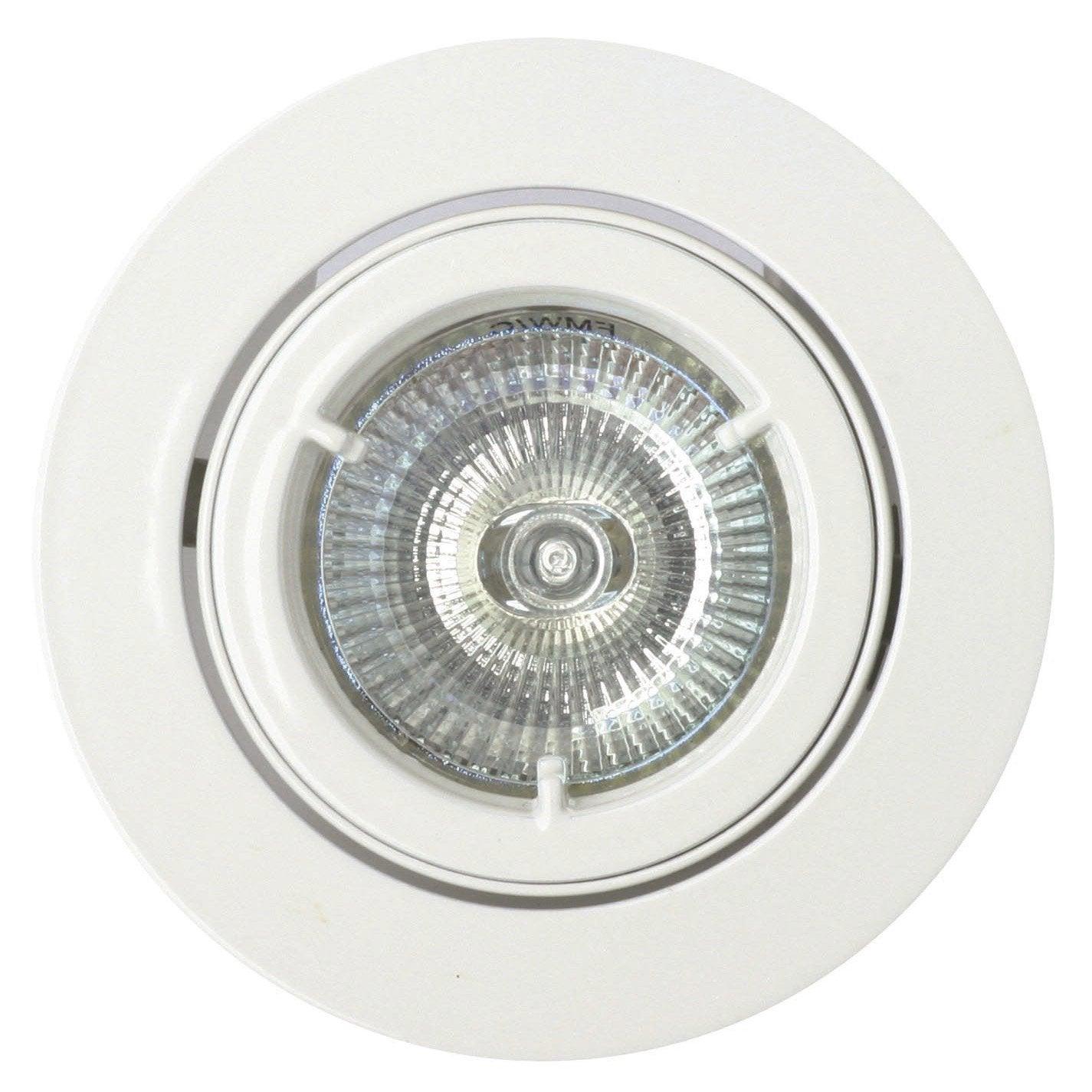 kit 1 spot encastrer salle de bains orientable halog ne inspire gu10 blanc leroy merlin. Black Bedroom Furniture Sets. Home Design Ideas