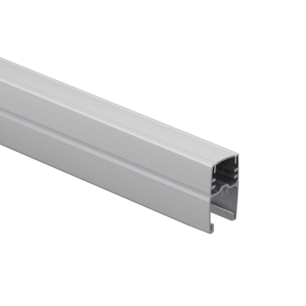 Profil de finition aluminium en h premium blanc h 4 5 x x p 3 4 cm leroy merlin for Palissade aluminium prix