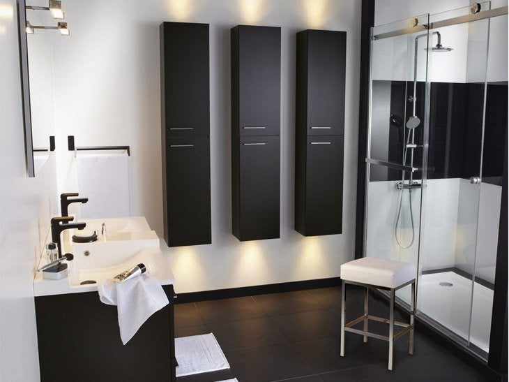 meuble rangement salle de bain leroy merlin solutions. Black Bedroom Furniture Sets. Home Design Ideas