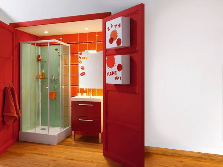 Emejing salle de bain rouge leroy merlin ideas awesome for Armoire a glace salle de bain leroy merlin