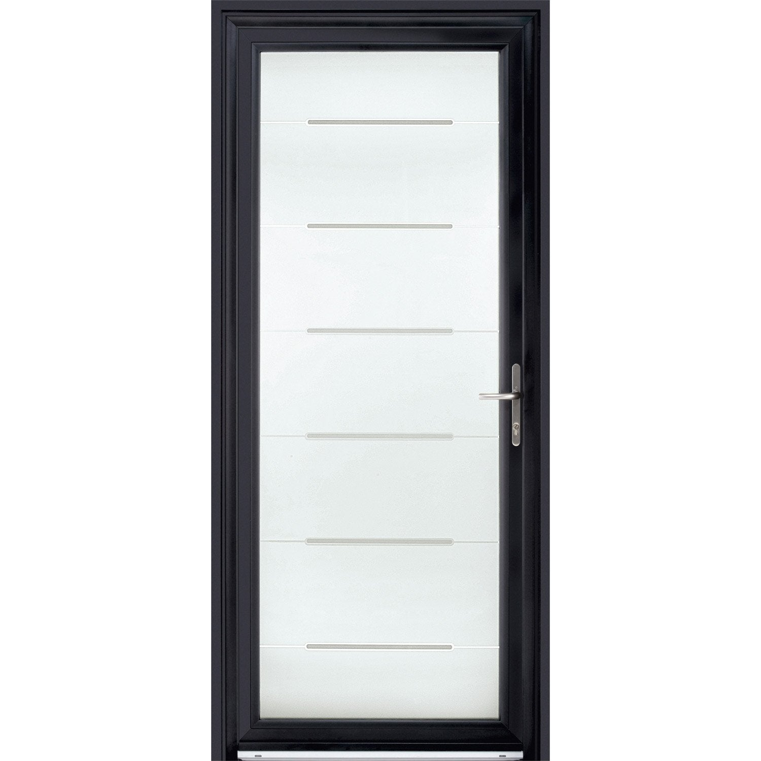porte d 39 entr e sur mesure en aluminium stellium excellence leroy merlin. Black Bedroom Furniture Sets. Home Design Ideas
